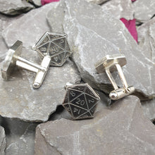 Load image into Gallery viewer, D20 cufflinks