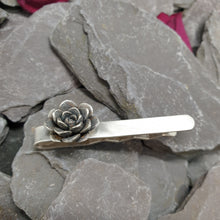 Load image into Gallery viewer, Large succulent rose tie slide
