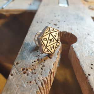 D20 pin badge