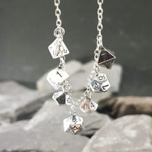 Load image into Gallery viewer, 7 D&D dice necklace