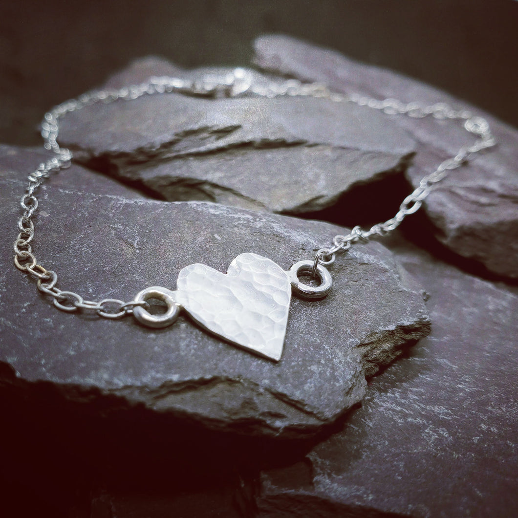 Personalised hammered heart