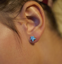 Load image into Gallery viewer, Small solid silver Meeple stud earrings