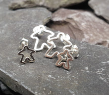 Load image into Gallery viewer, Small Silouette Meeple stud earrings