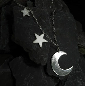 Moon and stars
