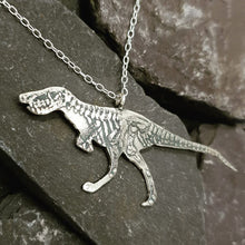 Load image into Gallery viewer, Skeletal Dinosaur pendant
