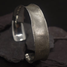 Load image into Gallery viewer, Frosted silver cuff