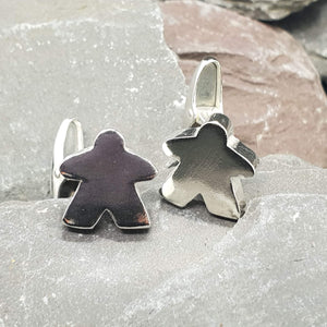 Solid sterling silver Meeple Cufflinks