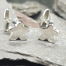 Load image into Gallery viewer, Solid sterling silver Meeple Cufflinks