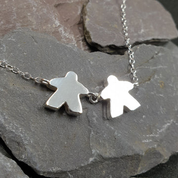 Meeple family necklace