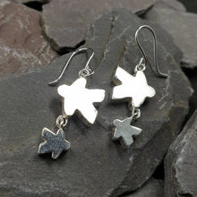 Load image into Gallery viewer, Meeple silhouette duo earrings