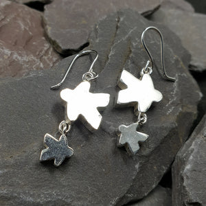 Meeple silhouette duo earrings