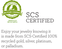 Mountain Momma Gems is SCS Certified: Enjoy your jewelry knowing it is made from SCS-Certified 100% recycled gold, silver, platinum, or palladium.