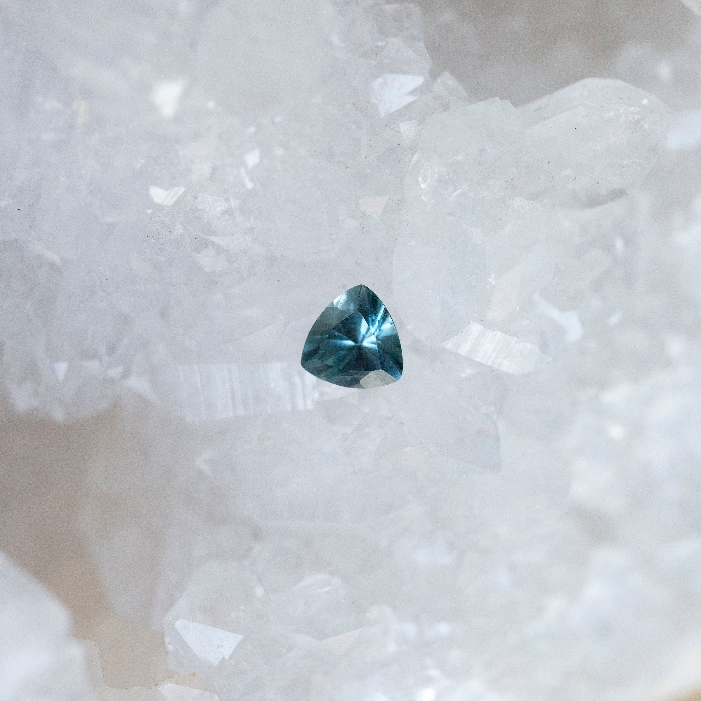 Trillion Cut 0.61 Carat Light Blue Montana Sapphire