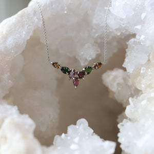 Tourmaline Multicolor 18 in. Necklace