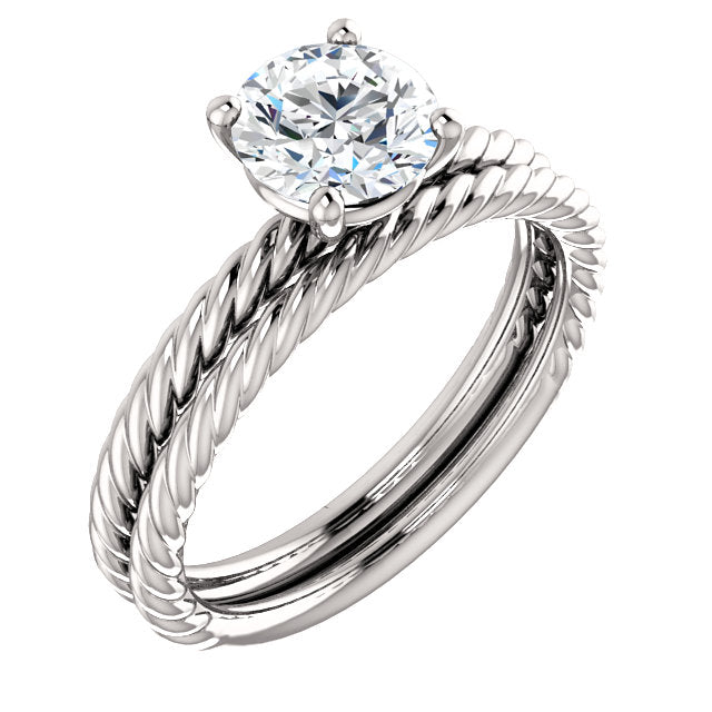 Jacqueline 4-Prong  Solitaire Rope Setting