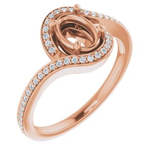 RESERVED: Custom Oval Montana Sapphire and Diamond Ring in 14K Rose Gold