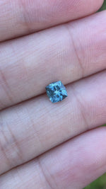 Load and play video in Gallery viewer, Montana Sapphire .89 Carat Blue Square Brilliant