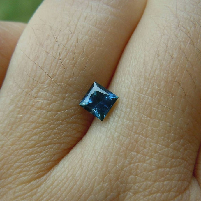 Genuine Montana Sapphire Blue Princess cut .72 carat Loose Gemstone