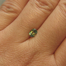 Load image into Gallery viewer, Montana Sapphire Green Yellow Blue .75 carat Cushion cut