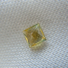 Load image into Gallery viewer, Genuine Montana Sapphire Princess Cut Yellow/Orange/Green .67 carat Loose Gemstone