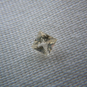 Light Peach Colored Loose Montana Sapphire Princess cut .28 carat 3.5mm