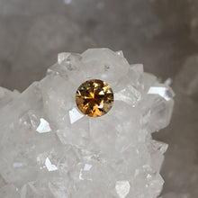 Load image into Gallery viewer, Montana Sapphire Orange Yellow .57 Carat Round