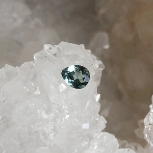 Montana Sapphire Pear Cut Light Green Blue .87 carat
