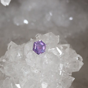Montana Sapphire 0.420 Ct Hexagon Cut Purple, Lilac, with Pink, Orange