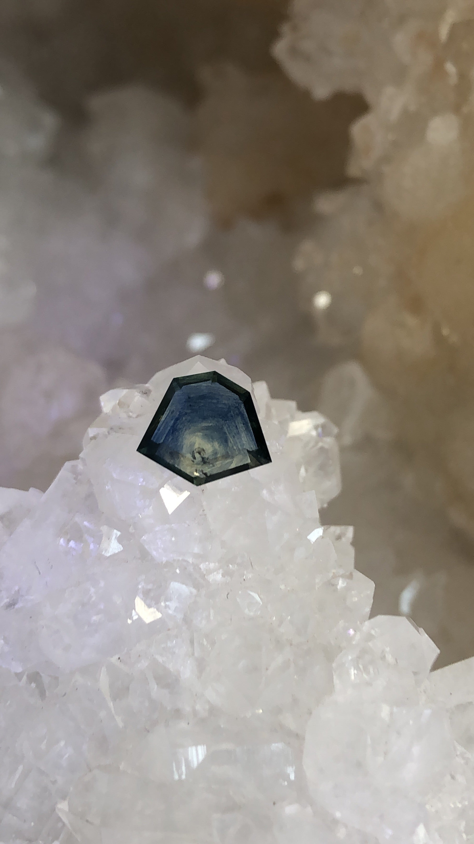 Montana Sapphire 1.72 Ct Blue, Teal and Yellow Portrait Cut