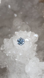 Load image into Gallery viewer, Montana Sapphire .66 Carat Silver With a Hint of Blue Brilliant Hexagon Cut