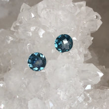 Load image into Gallery viewer, Matched Pair of Teal Montana Sapphire Checkerboard  Cut 1.63 carat total