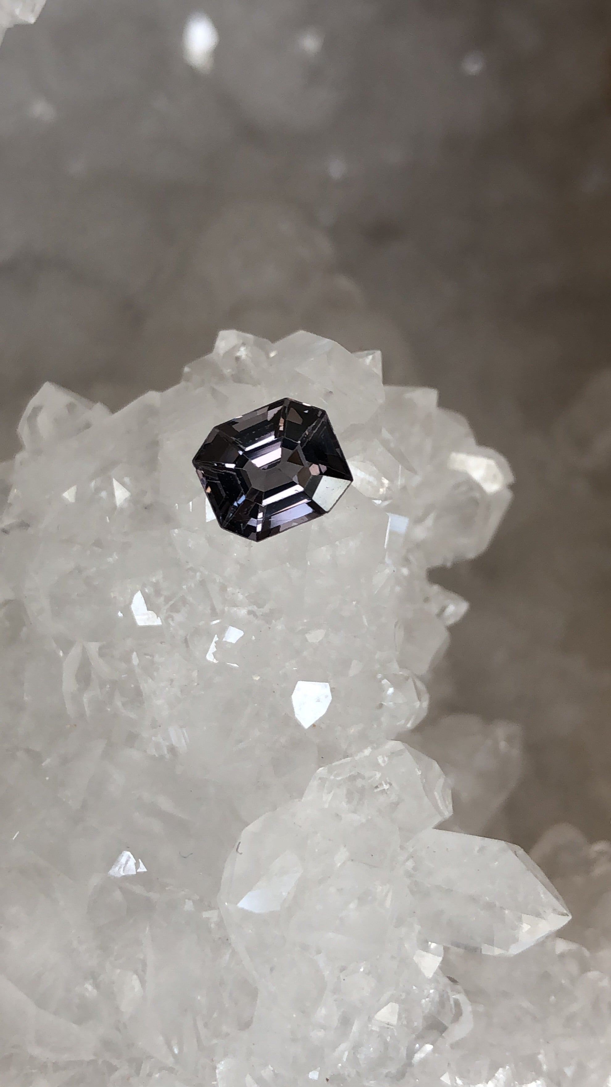 Spinel Grayish Purple Emerald Cut 1.43 Carat