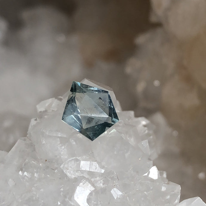 Malawi Sapphire Light Steely Blue Green 1.35 Carat Geo Cut