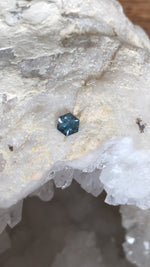 Load image into Gallery viewer, Montana Sapphire .71 Carat Light Blue Brilliant Hexagon Cut