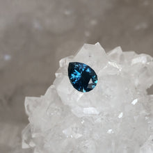 Load image into Gallery viewer, Montana Sapphire Royal Blue/Teal .81 carat Pear Cut
