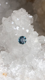 Load image into Gallery viewer, Montana Sapphire Blue Green Checkerboard Cut .94 carat
