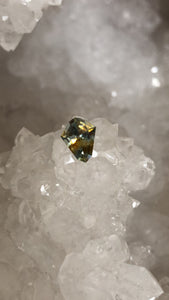Montana Sapphire 1.10 Carat Silver Blue and Gold Modified Kite Cut