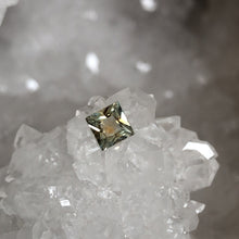 Load image into Gallery viewer, Montana Sapphire Yellow Orange Green .54 Carat Princess Cut