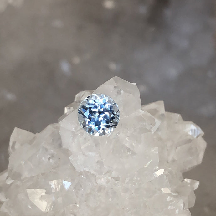 Montana Sapphire Light Powder Blue .91 carat Round