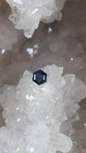 Montana Sapphire .79 Carat Blue Green Hexagon Cut