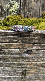 Load image into Gallery viewer, Montana Sapphire 5 Stone Rainbow Band in 14 Karat White Gold