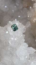 Load image into Gallery viewer, Montana Sapphire .77 Carat Green Blue Radiant Cut