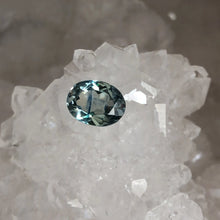 Load image into Gallery viewer, Montana Sapphire Oval 1.20 carat Light Blue Green with Blue Stripe