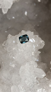Spinel Dark Teal Cushion Cut .94 Carat