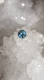 Load image into Gallery viewer, Montana Sapphire Light Steely Blue Round .65 Carat