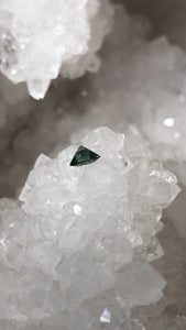 Montana Sapphire .81 Carat Blue Green Brilliant Hexagon Cut