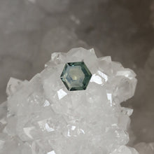 Load image into Gallery viewer, Hexagon Montana Sapphire .73 carat Green Blue
