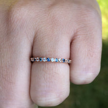 Load image into Gallery viewer, Montana Sapphire and White Sapphire 14k Rose Gold Band