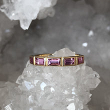Load image into Gallery viewer, Pink Sapphire Band in 14k Yellow Gold