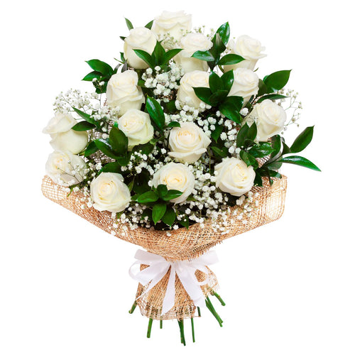 White Two Dozen Roses